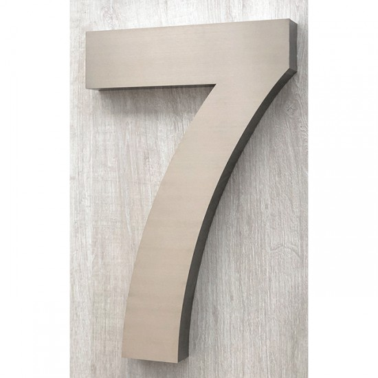 Huisnummer 7 RVS 3D Arial xxl