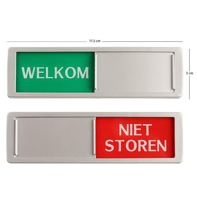 Welkom - Niet Storen schuifbordje XL...