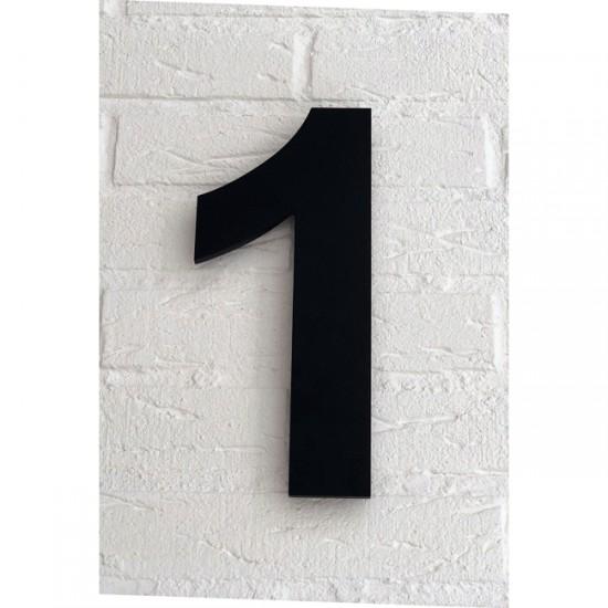 Huisnummer 1 Zwart Mat...