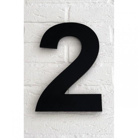 Huisnummer 2 Zwart Mat...