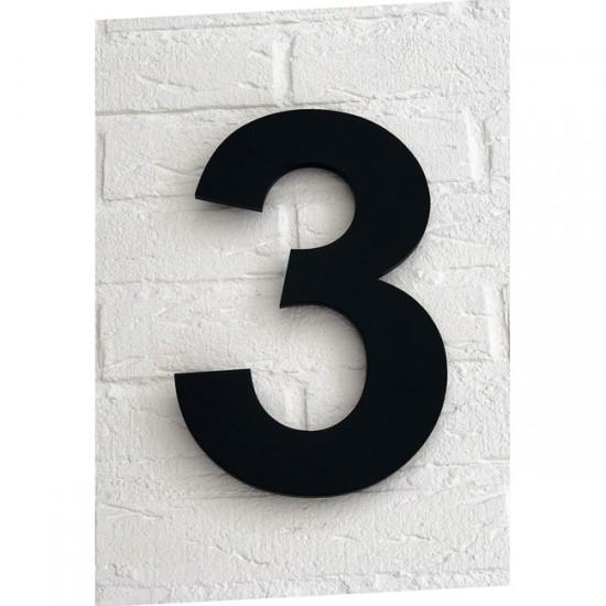 Huisnummer 3 Zwart Mat...