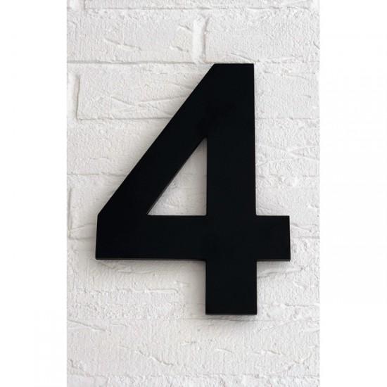 Huisnummer 4 Zwart Mat...