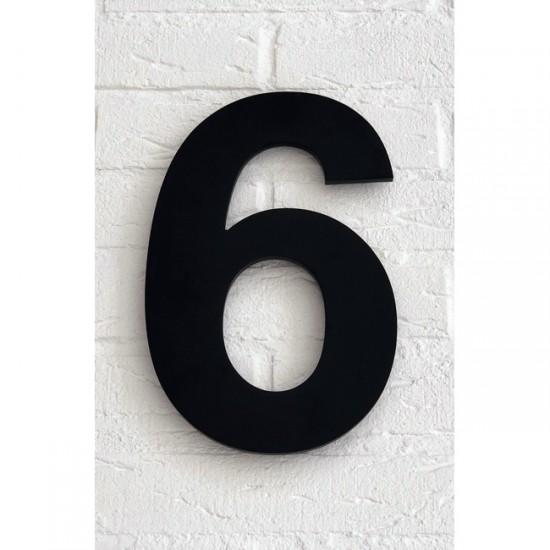 Huisnummer 6 Zwart Mat...