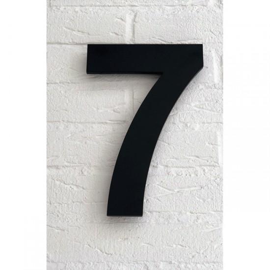 Huisnummer 7 Zwart Mat...
