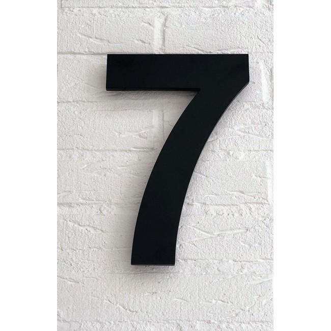 Huisnummer 7 Zwart Mat Acrylaat Groot