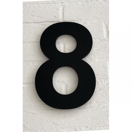 Huisnummer 8 Zwart Mat...
