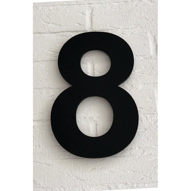Huisnummer 8 Zwart Mat Acrylaat Groot