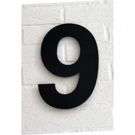 Huisnummer 9 Zwart Mat...