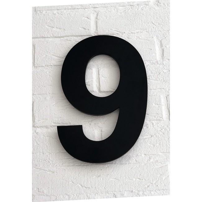 Huisnummer 9 Zwart Mat Acrylaat Groot