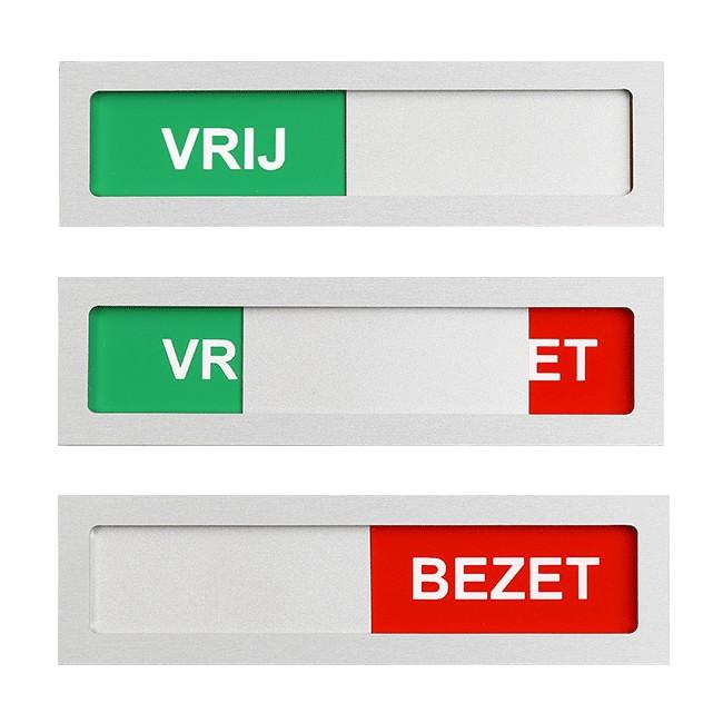 Vrij - Bezet schuifbordje 100 mm x 28 mm