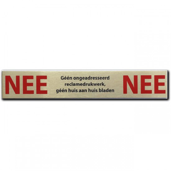 NEE NEE sticker rvs Geen...