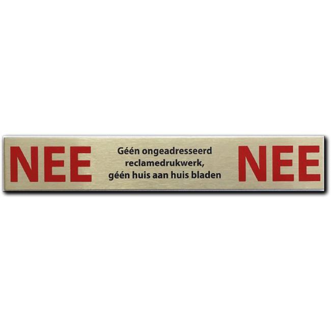 NEE NEE sticker rvs Geen...