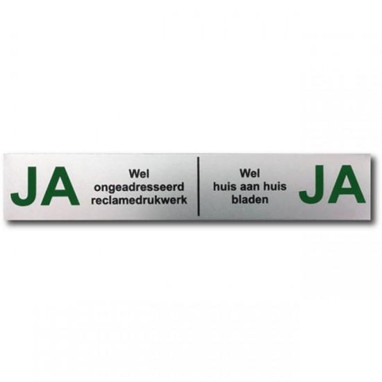 Ja Ja sticker aluminium...