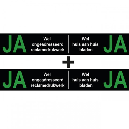 Ja Ja sticker brievenbus |...