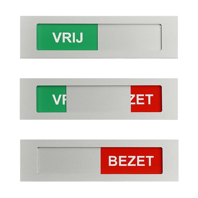 Vrij - Bezet schuifbordje 170 mm x 42 mm