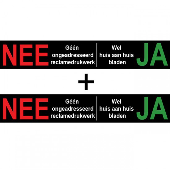 Nee Ja sticker brievenbus...