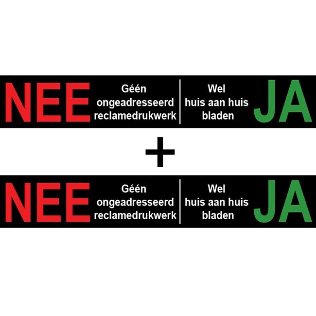 Nee Ja sticker brievenbus Ja Nee | 1...