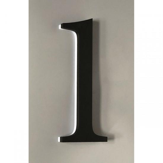 Huisnummer 1 Zwart Acrylaat...