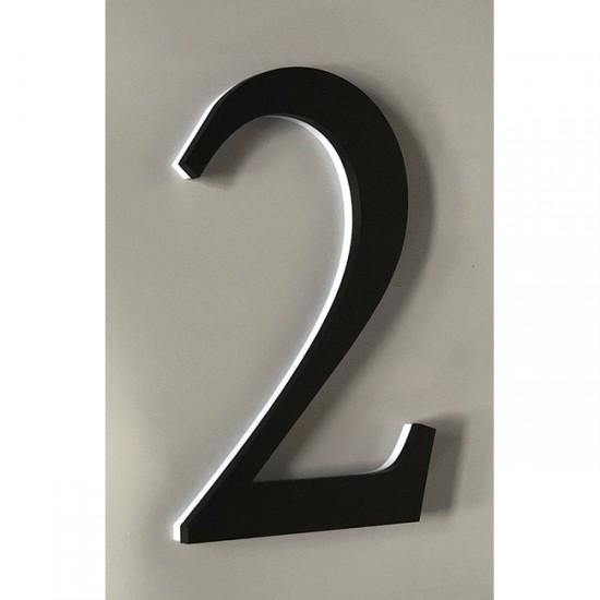 Huisnummer 2 Zwart Acrylaat...