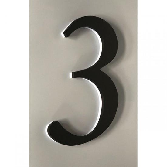 Huisnummer 3 Zwart Acrylaat...