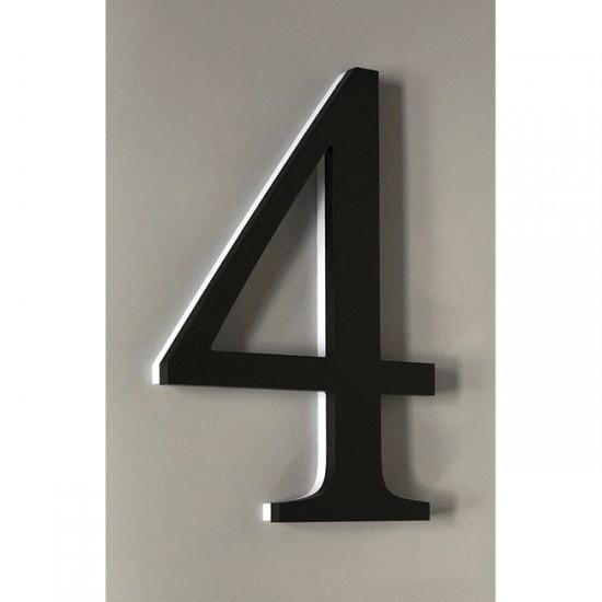 Huisnummer 4 Zwart Acrylaat...