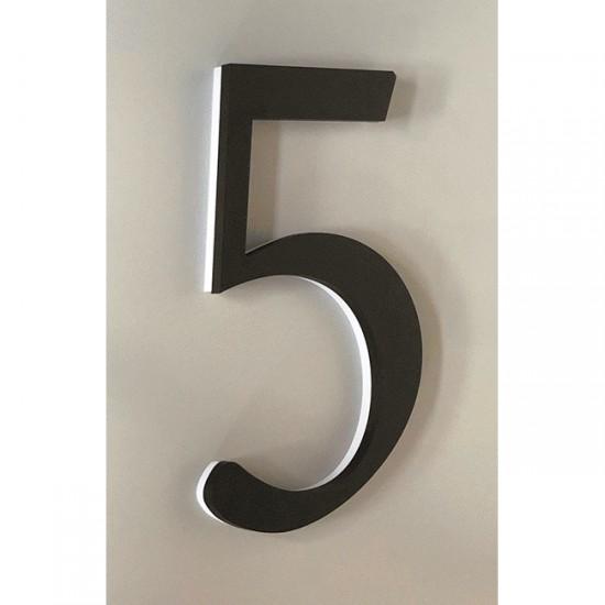 Huisnummer 5 Zwart Acrylaat...