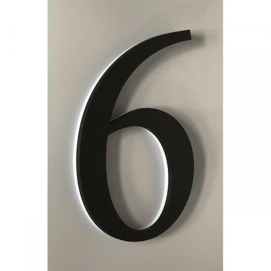 Huisnummer 6 Zwart Acrylaat...