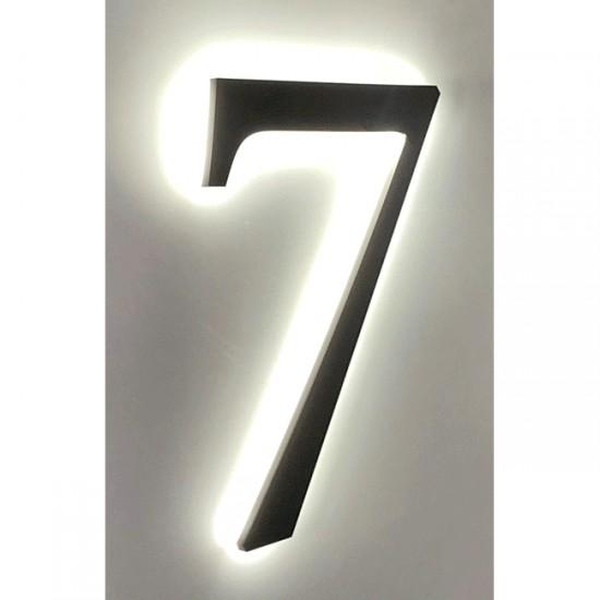 Huisnummer 7 Zwart Acrylaat...