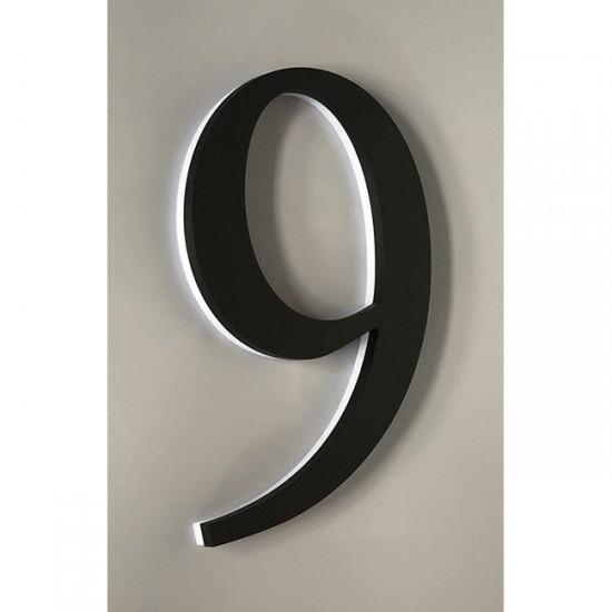 Huisnummer 9 Zwart Acrylaat...