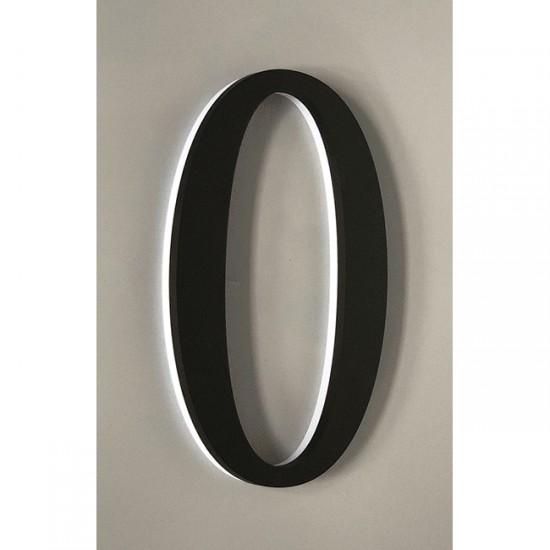 Huisnummer 0 Zwart Acrylaat...