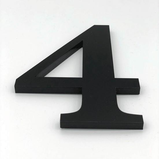 Huisnummer 4 Zwart Groot...