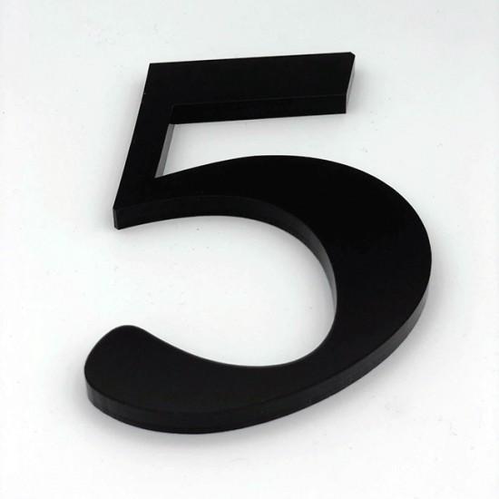 Huisnummer 5 Zwart Groot...