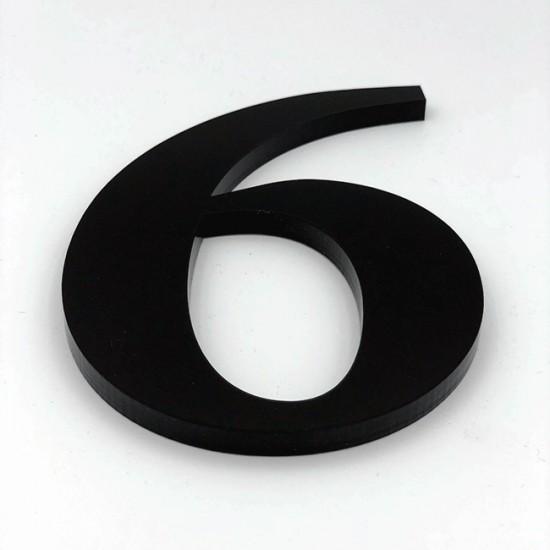 Huisnummer 6 Zwart Groot...