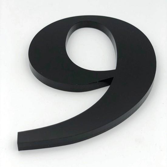 Huisnummer 9 Zwart Groot...