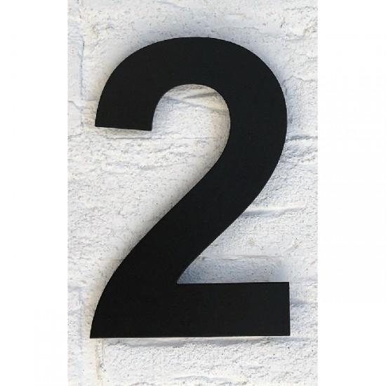 Huisnummer 2 RVS Mat Zwart...