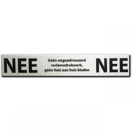 NEE NEE sticker brievenbus...