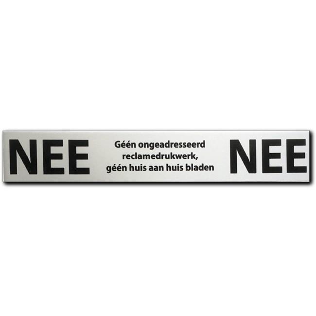 NEE NEE sticker brievenbus Aluminium...