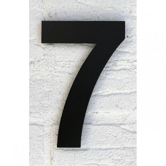 Huisnummer 7 RVS Mat Zwart...