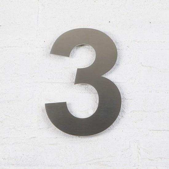 Huisnummer 3 RVS Geborsteld...
