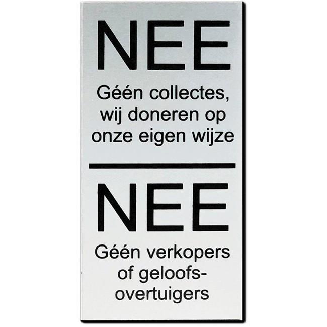 NEE Géén collectes NEE verkopers of...
