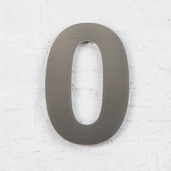 Huisnummer 0 RVS Geborsteld...