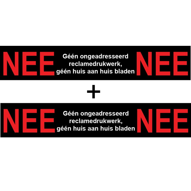 Nee Nee sticker brievenbus | 1 + 1...
