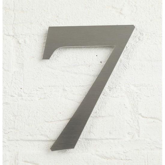 Huisnummer 7 RVS Geborsteld...