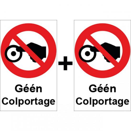 Geen Colportage sticker | 1...