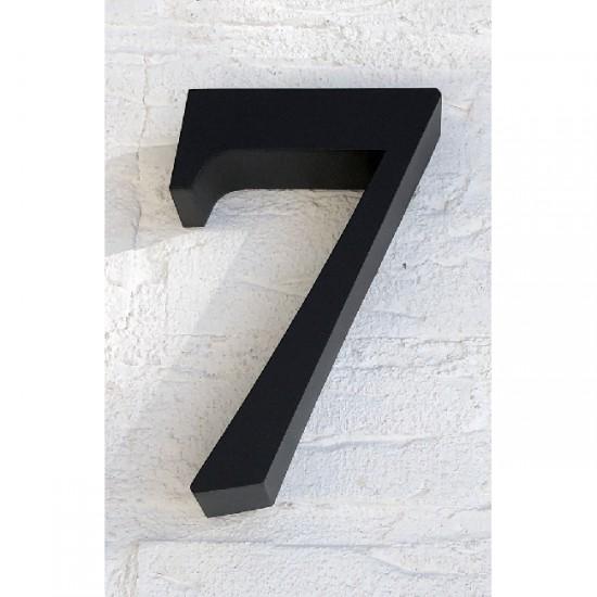 Huisnummer 7 RVS Zwart 3D Roma