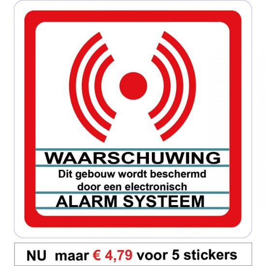 Alarm systeem sticker....