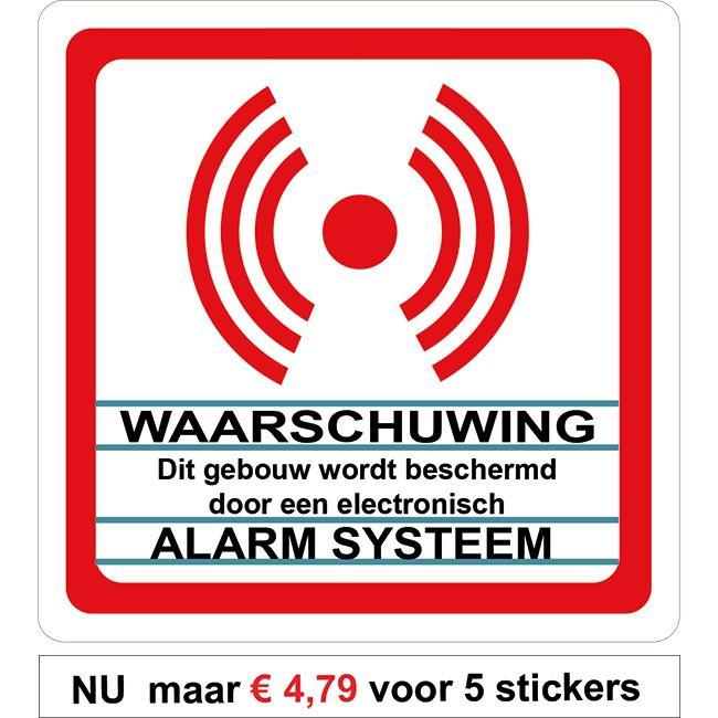 Alarm systeem sticker Transparant met...