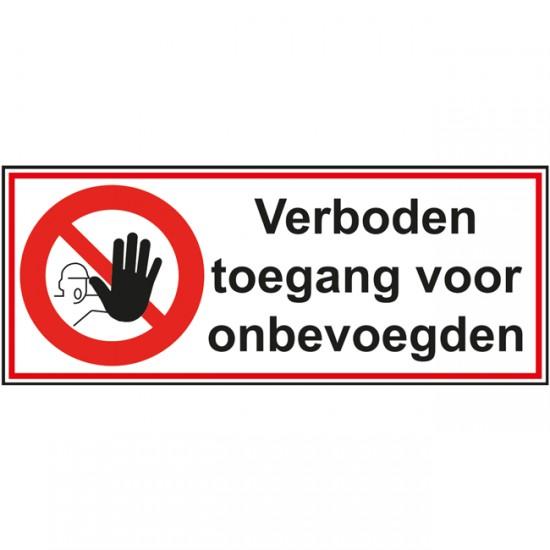 Verboden toegang voor...