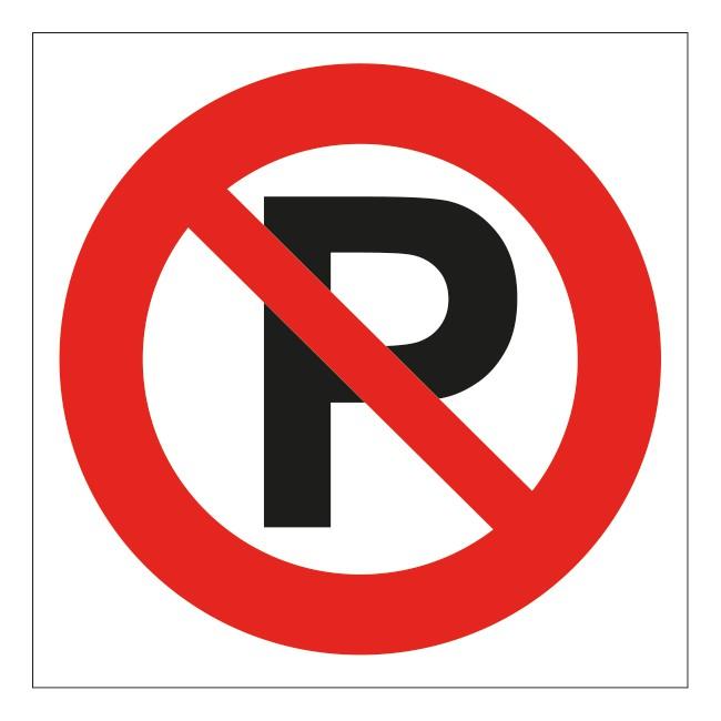 Verboden te parkeren sticker | 5 stuks