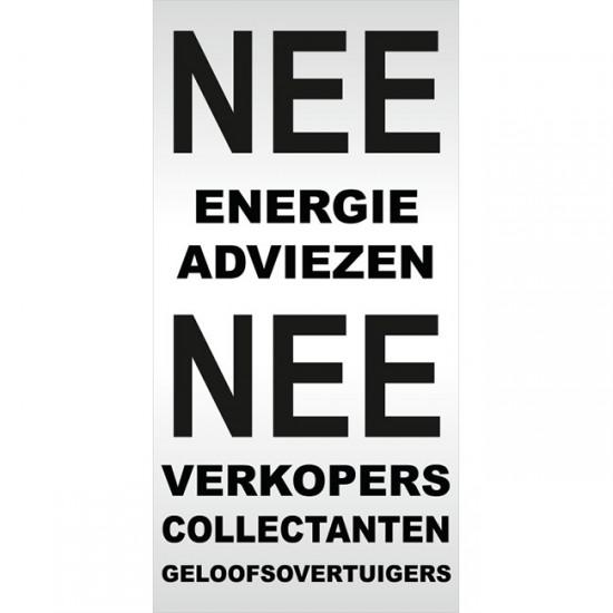 Nee Nee geen energie...